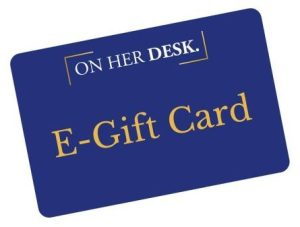 gift card for on her desk
