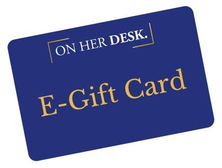 gift card for on her desk