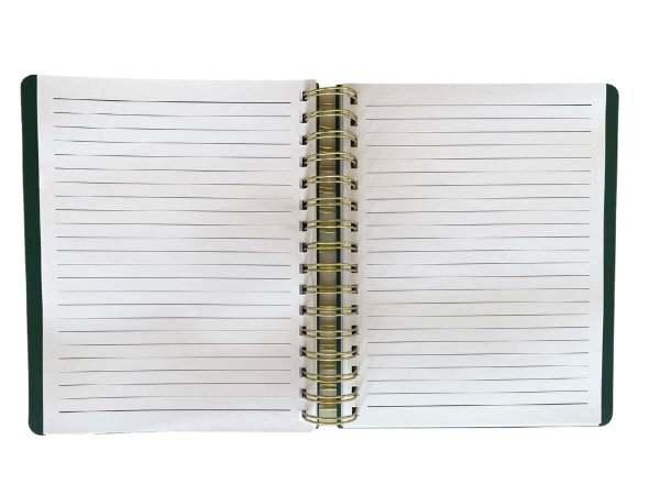 a5 spiral notebook inside view