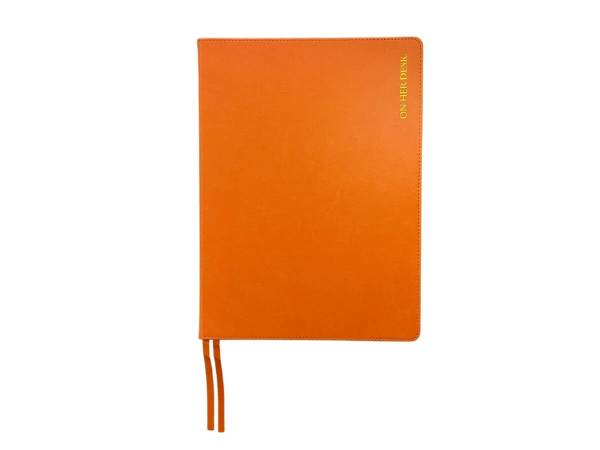 A4 Hardcover notebook in tangerine