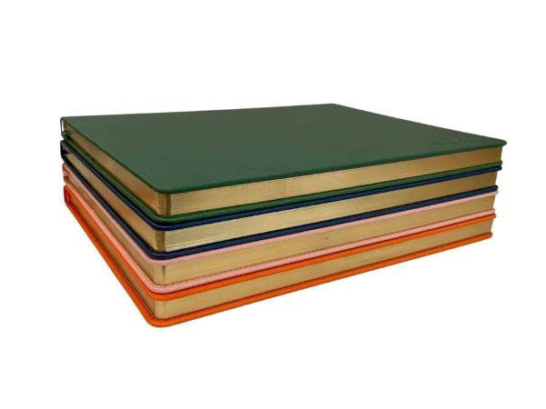 A4 Hardcover notebooks with gold foil paper edging