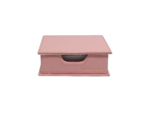 Sticky note holder in pink