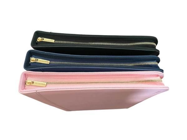 A4 Compendium Folder gold zips