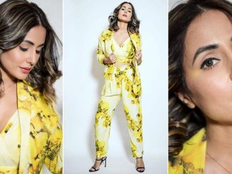 Hina Khan Soaking in her Own Sunshine in this Yellow Sakshi Khetterpal Outfit for Bigg Boss 14 (View Pics)