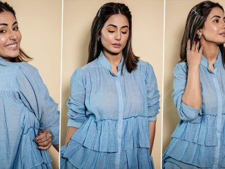 Hina Khan's Basic Yet Trendy Outing Will 'Blue' Your Mind Away! (View Pics)