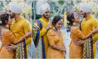 Neha Kakkar and Rohanpreet Singh's Haldi Ceremony: Bright and Sunny, the Duo Looks Radiant in their Yellow Outfits (View Pics)