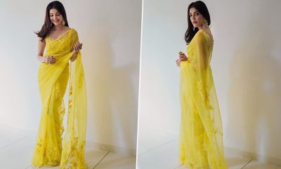 Kajal Aggarwal Shares Throwback Pictures from her Engagement Ceremony and Her Yellow Manish Malhotra Saree Has Our Attention