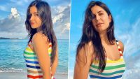 Katrina Kaif Says It's Amazing to Be in Maldives for Shoot, Actress Hits the Beach in Great Mood (See Pics)