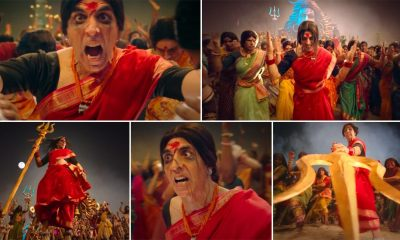 Laxmii Song Bam Bholle: Akshay Kumar's Super-Energetic Dancing in a Red Saree is An Easy Highlight of This Catchy Track (Watch Video)