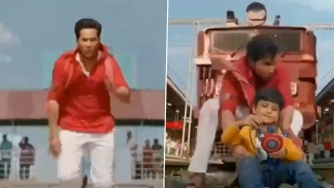 Coolie No 1: Varun Dhawan Saving a Kid From a Fake Train in This WTF Scene Leaves Fans in Splits; Reminds Us of Kalank's Bull-Fight Scene (Watch Video)