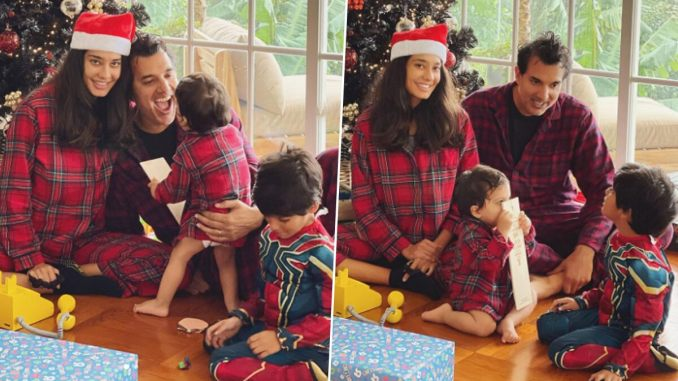 Lisa Haydon Shares These Two Heartwarming Pictures Out Of The 300 Imperfect Photos From This Christmas Celebration!