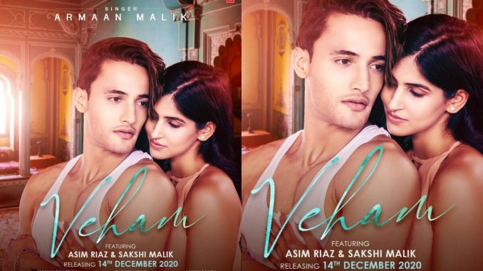 Veham: Asim Riaz and Sakshi Malik Are Totally Soaked in Love in the First Poster of Their Music Video!