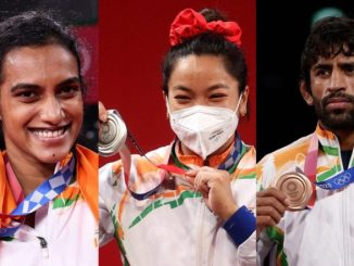 PV Sindhu, Mirabai Chanu, Bajrang Punia and Mary Kom Catch Up With Fans and Other Olympians Ahead of High Tea With President Ram Nath Kovind (Watch Videos)