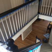 Black Staircase Railing, DIY