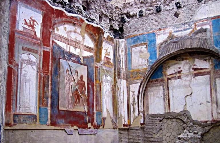Décoration des maisons à Herculanum