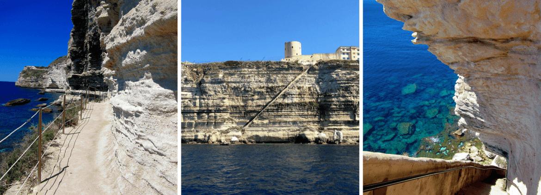 Visiter l'Escalier du Roy d'Aragon à Bonifacio