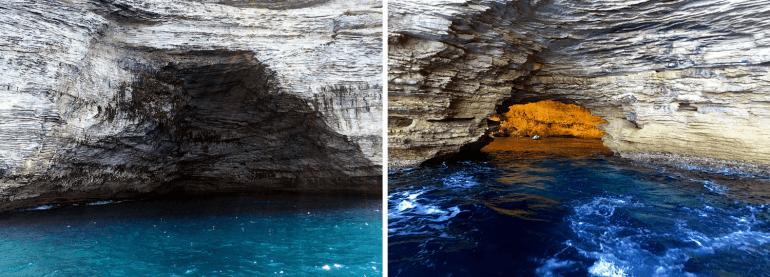 Grottes marines à Bonifacio