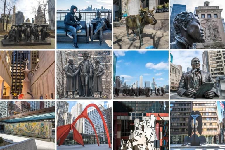 Sculptures dans Chicago