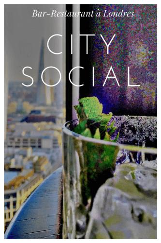 City Social le restaurant avec vue à Londres Pinterest