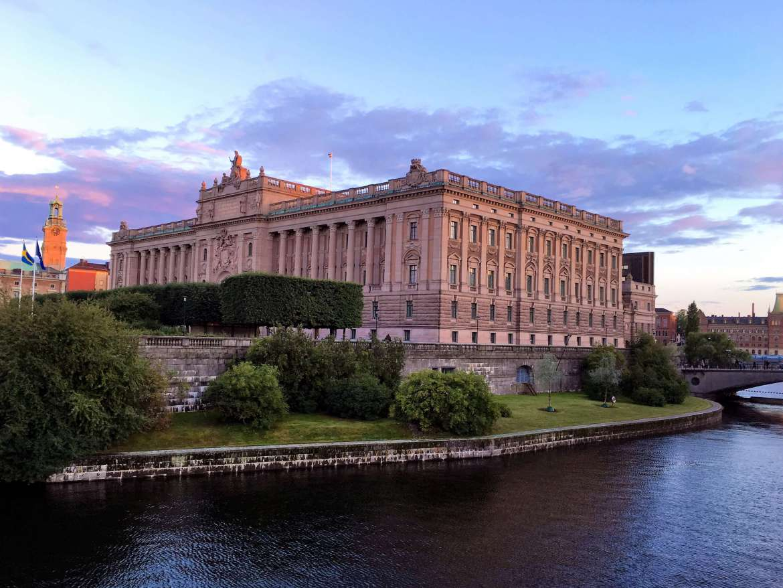 Riksdag dans la vieille ville de Stockholm