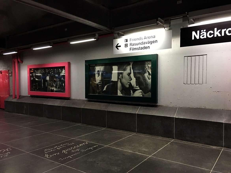 Station Näckrosen métro de Stockholm