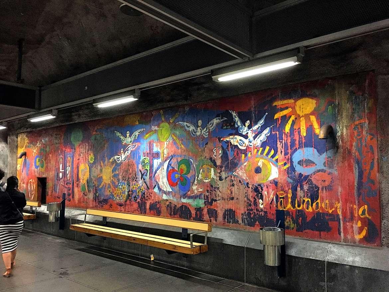Station Rädhuset métro de Stockholm