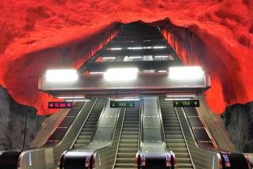 Station de Solna Centrum métro de Stockholm