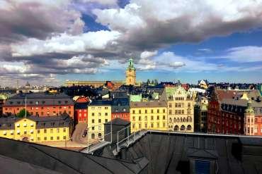 Stockholm insolite vue sur les toits de la ville