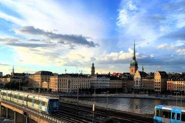 Vue vieille ville de Stockholm Suède