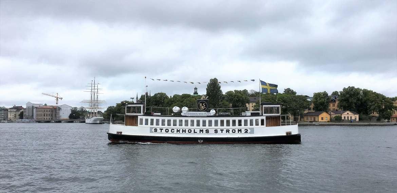 Le bateau c'est aussi un transport public à Stockholm
