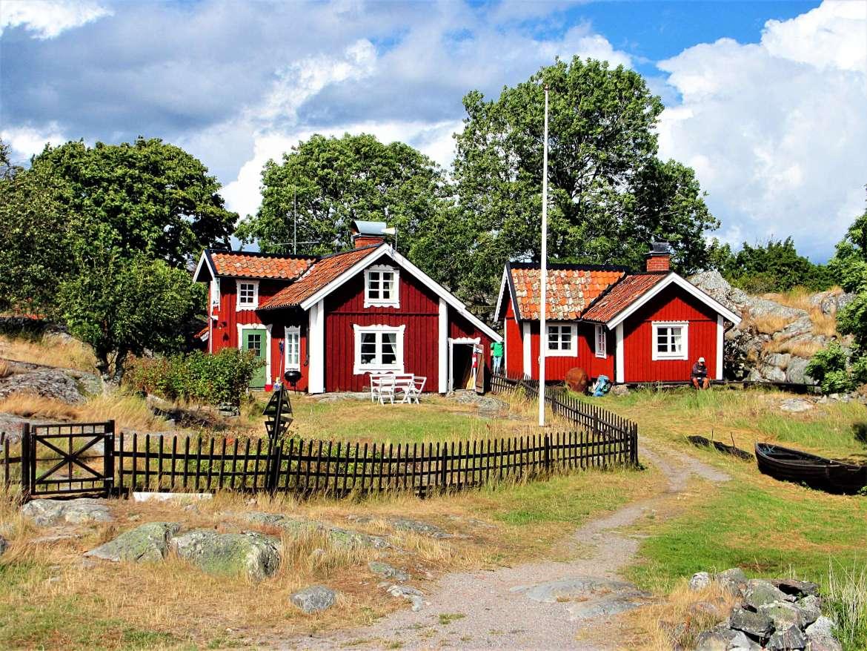 Maison sur l'ile de Bullero en Suède