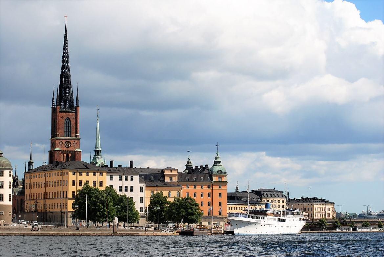 Vue sur Stockholm depuis l'excursion en bateau