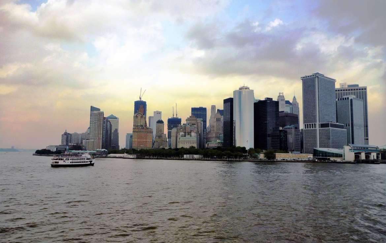 Vue sur Manhattan depuis le Ferry de Staten Island