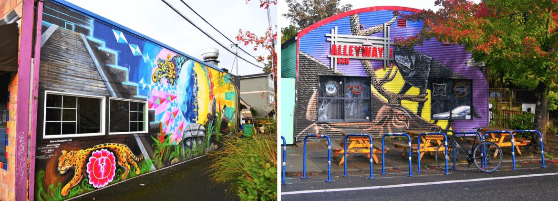 Les rues colorées de Portland