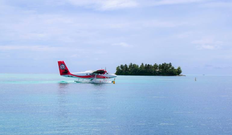 L'hydravion pour aller sur les iles Maldives