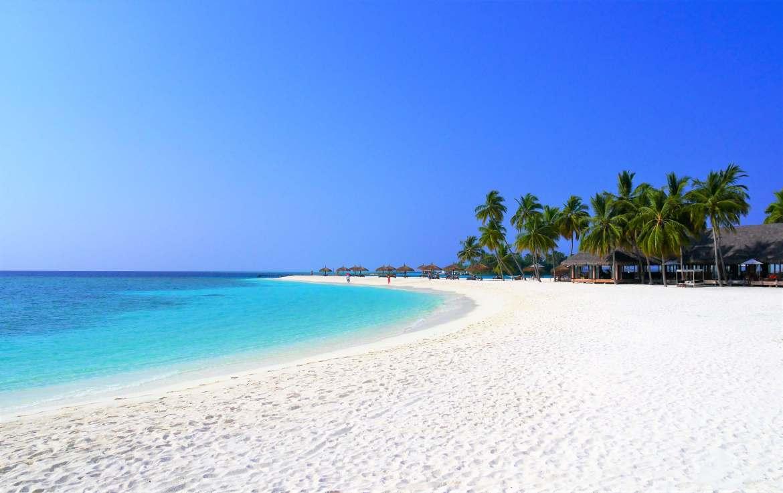 Plage d'une ile Maldives