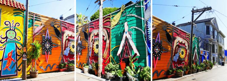 Façades et Street Art à San Francisco Lilac Street Mission District