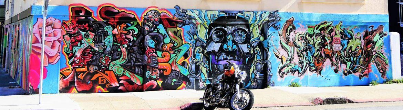 Rue de Mission District à San Francisco street art