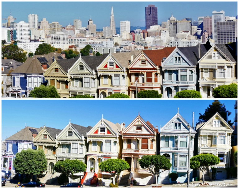 Visiter San Francisco en 1 jour Seven Painted Ladies Skyline Alamo San Francisco Californie USA blog voyage suisse cosy on holidays again