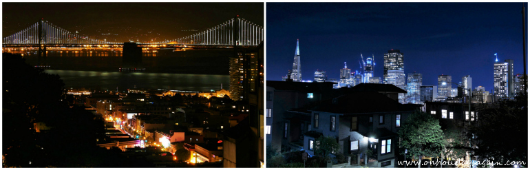 Visiter San Francisco en 1 jour skyline San Francisco de nuit Californie usa blog voyage suisse cosy on holidays again