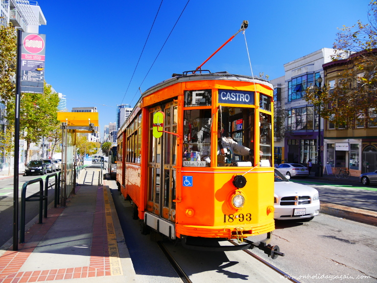 Visiter San Francisco en 1 jour Tram San Francisco Californie USA blog voyage suisse cosy on holidays again