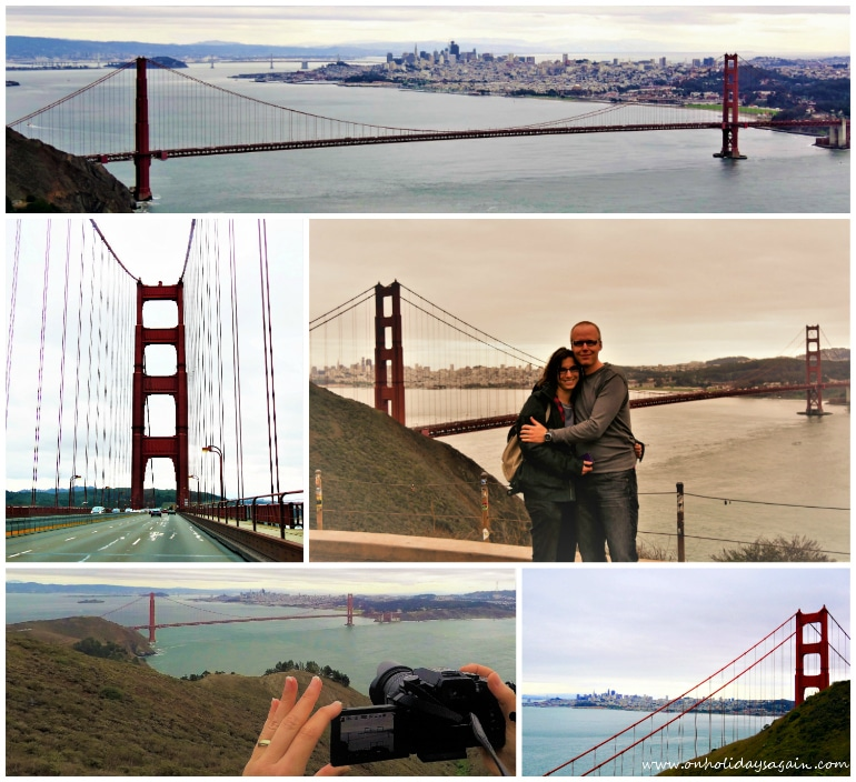 Visiter San Francisco en 1 jour Vue Golden Gate Bridge San Francisco Californie USA blog voyage suisse cosy on holidays again