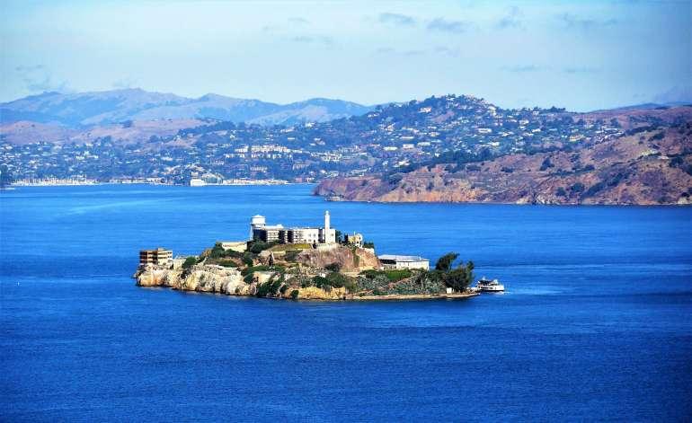 Vue sur Alcatraz lors de notre visite de San Francisco en 1 jour