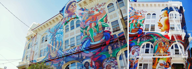 Women's building à Mision District street art à San Francisco