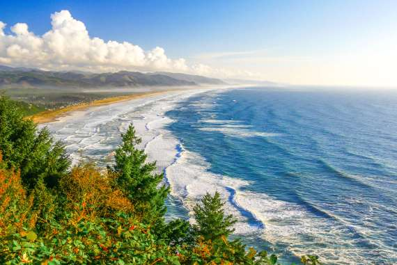 Vue depuis la Highway 101 road trip en Oregon
