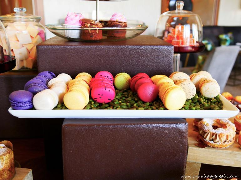 Les macarons de l'afternoon tea du Beau-Rivage à Lausanne