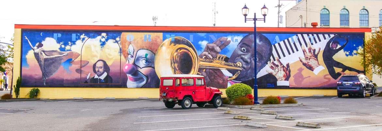 Street art Eureka Californie du Nord USA