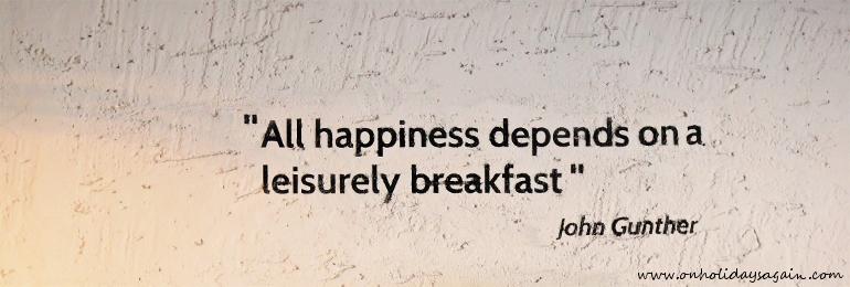 Citation Happiness au Blackbird Café à Lausanne