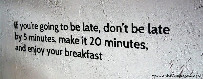 Une sympathique citation du Blackbird café à Lausanne