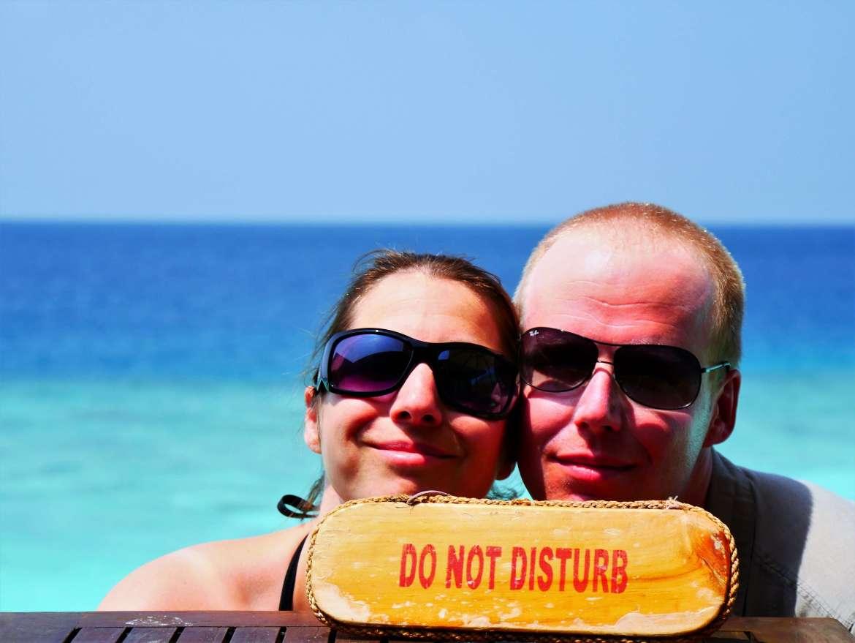 Nous en vacances sur la meilleure ile des maldives